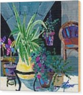 Library Courtyard-rhodes Old Town Wood Print