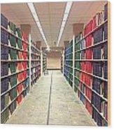 Library Daze IIi Wood Print