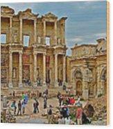 Library Of Celsus In Ephesus-turkey Wood Print
