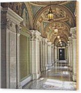Library Of Congress Hallway Washington Dc Wood Print