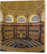 Library Of Congress Main Reading Room Wood Print