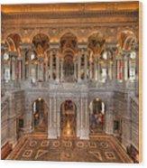 Library Of Congress Wood Print by Steve Gadomski