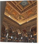 Library Of Congress - Washington Dc - 011321 Wood Print by DC Photographer