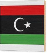 Libya Flag Wood Print