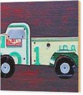 License Plate Art Pickup Truck Wood Print