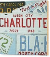 License Plates Wood Print by Stacy C Bottoms