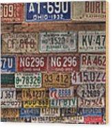 License To Drive Wood Print