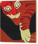 Lick Red Wood Print