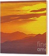 Lickstone Gap Sunset 5 Wood Print