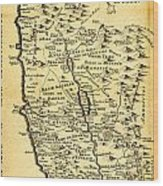 Liebauxs Map Of The Holy Land 1720 Wood Print