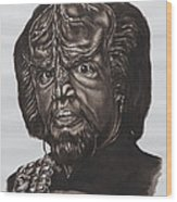 lieutenant commander Worf Star Trek TNG Wood Print