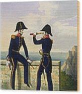 Lieutenants, Plate 1 From Costume Wood Print
