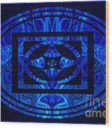 Life Force Within Abstract Healing Artwork Wood Print