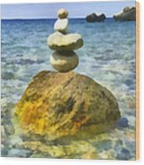 Life In Balance Wood Print
