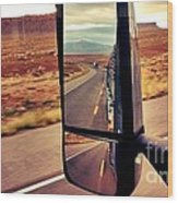 Life In My Rearview Mirror Wood Print