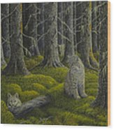 Life In The Woodland Wood Print