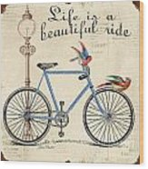 Life Is A Beautiful Ride Wood Print