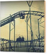 Life Is A Rollercoaster Wood Print