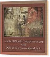 Life Is Moments Of Camouflage Wood Print