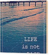 Life Is Not A Race Wood Print