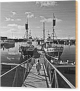 Life On The Docks Wood Print