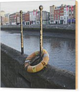 Life Saver -  Swiffey River - Dublin Ireland Wood Print