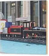Life Size Toy Train Set In Nyc Wood Print