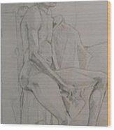 Life Study Male Ballet Dancer Wood Print
