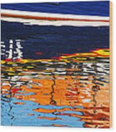 Lifeboat Reflections Wood Print