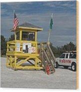 Lifeguard And Beachpatrol Wood Print