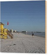 Lifeguard On Siesta Key Wood Print