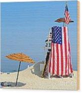 Lifeguard 9-11 Tribute Wood Print