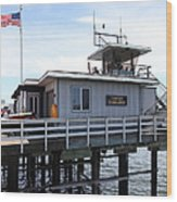 Lifeguard Headquarters On The Municipal Wharf At Santa Cruz Beach Boardwalk California 5d23827 Wood Print