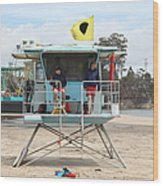 Lifeguard Shack At The Santa Cruz Beach Boardwalk California 5d23713 Wood Print