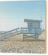 Lifeguard Station #13 Wood Print
