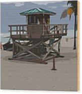Lifeguard Station IIi Abstract Wood Print