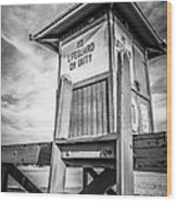 Lifeguard Tower 10 Newport Beach Hdr Picture Wood Print