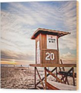 Lifeguard Tower 20 Newport Beach Ca Picture Wood Print