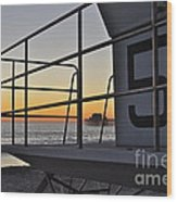 Lifeguard Tower 5  Wood Print