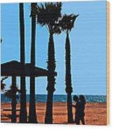 Life's A Beach Wood Print