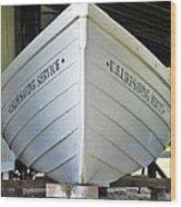 Lifesaving Boat Wood Print