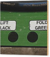 Lift Black Fold Green Wood Print by Christi Kraft