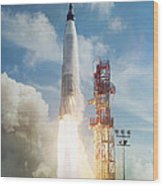 Lift Off Wood Print by Peter Chilelli