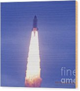 Liftoff Of Endeavour Wood Print