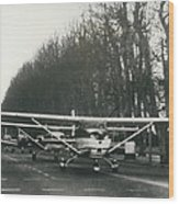 Light Aircraft In March Past Wood Print