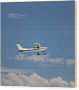Light Aircraft Wood Print