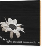 Light And Dark Inspirational Wood Print