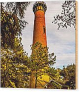 Light At Currituck Wood Print