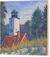 Light At Presque Isle Wood Print