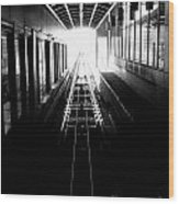 Light At The End Of The Tunnel. Wood Print